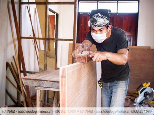 Sửa chữa đồ gỗ tại quận Long Biên Hà Nội