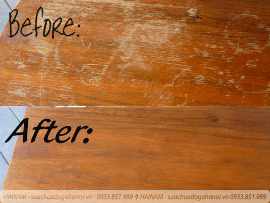 Xóa các vết xước trên mặt đồ gỗ