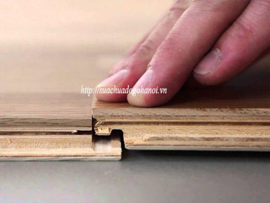 sàn gỗ bị hở hèm khóa