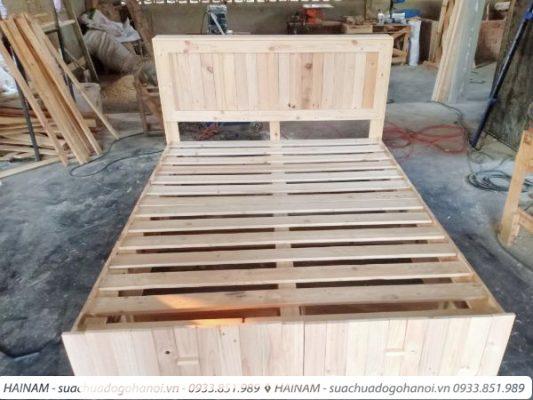 đóng mới giường gỗ