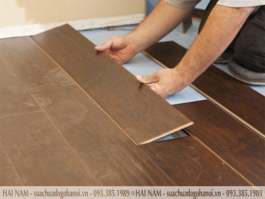 Các bước lắp sàn gỗ