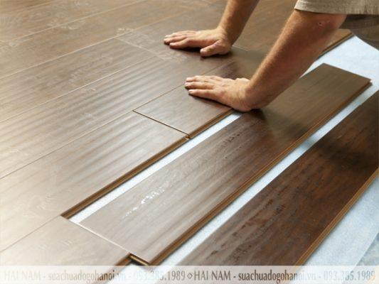 Tháo lắp sàn gỗ